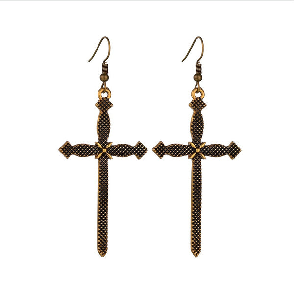 Sanctus Gothic Cross Earrings - LAST CHANCE! - The Songbird Collection