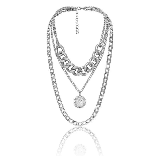 Letizia Layered Chain Necklace - The Songbird Collection