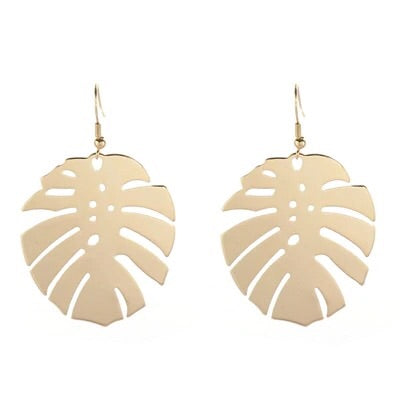 Monstera Tropical Leaf Earrings - RESTOCKED!! - The Songbird Collection