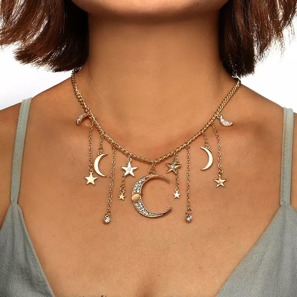 Moonstruck Statement Necklace - Now in SILVER TOO!! - The Songbird Collection