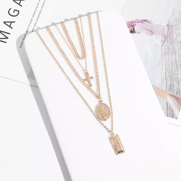 Gianna 4 Layer Pendant Necklace - #️⃣1️⃣ Selling Necklace! LOW STOCK! - The Songbird Collection