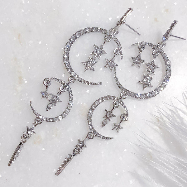 Starry Dreams Earrings - Now in Silver, Gold, and Black!