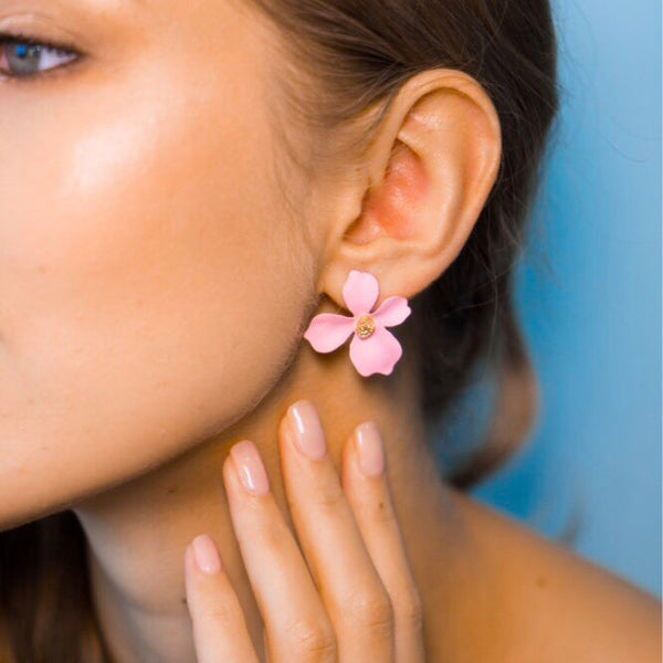 Mini Miami Flower Earrings - 11 Colors! - The Songbird Collection