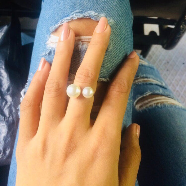 Arista Open Pearl Ring - BOGO FREE! Last Chance!! - The Songbird Collection