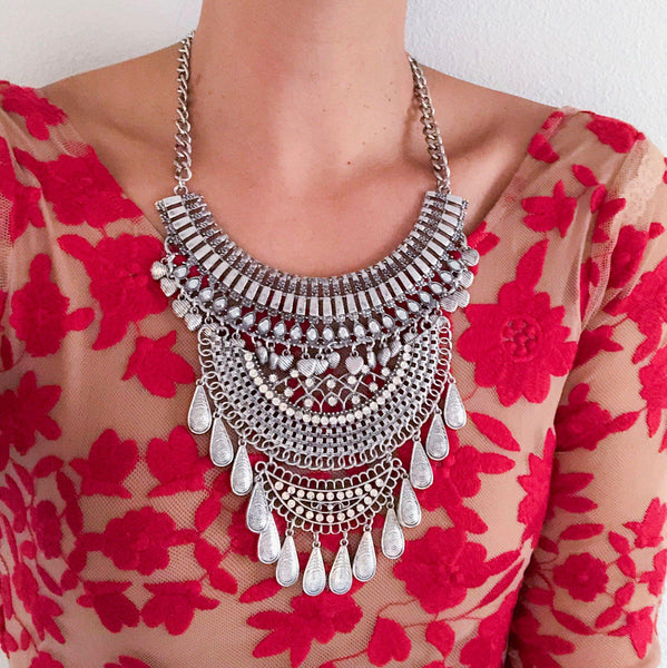 Odessa Maxi Statement Necklace - HURRY!! A COUPLE LEFT! - The Songbird Collection