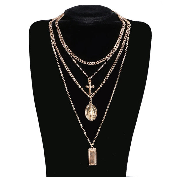 Gianna 4 Layer Pendant Necklace - RESTOCKED!! - The Songbird Collection