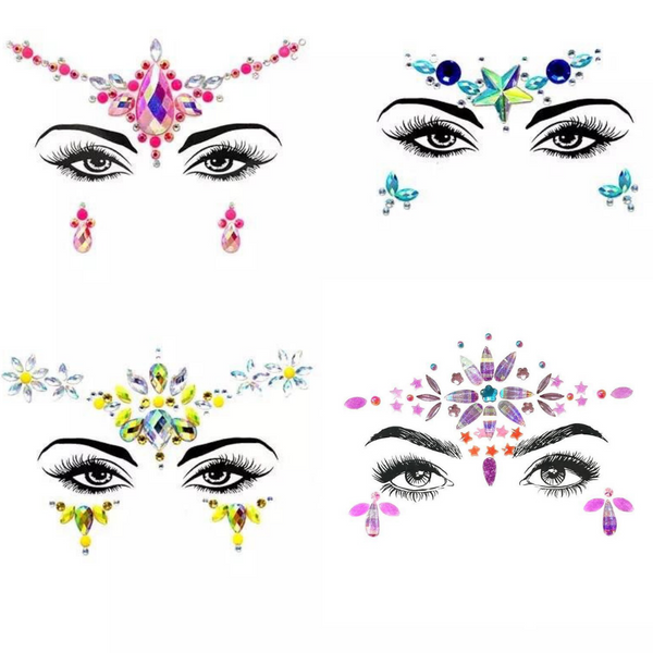 ⚡️ Electric Color Punch Face Jewels  💎 Brand Spanking NEW 8 Designs/ Colors!!