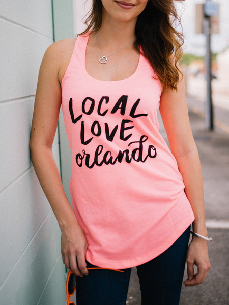 Local Love Orlando logo tank