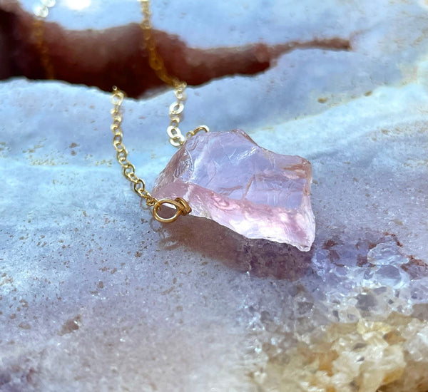 Raw Crystal Necklaces – Catching Wildflowers