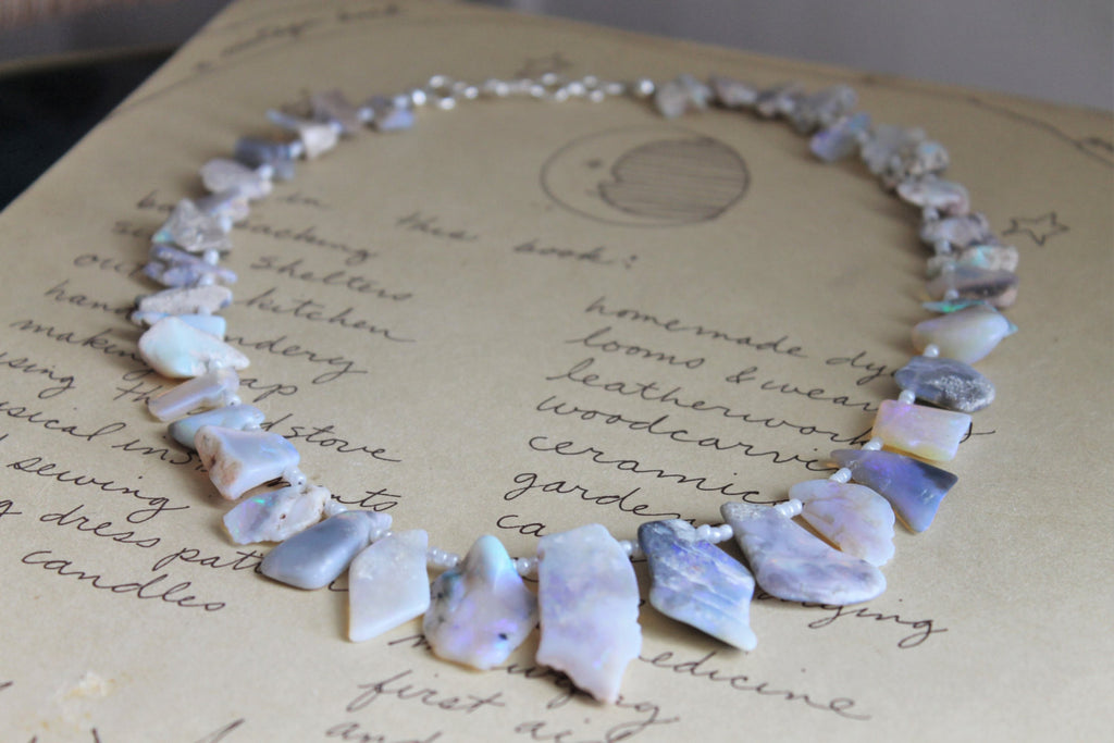 Raw Opal Statement Necklace