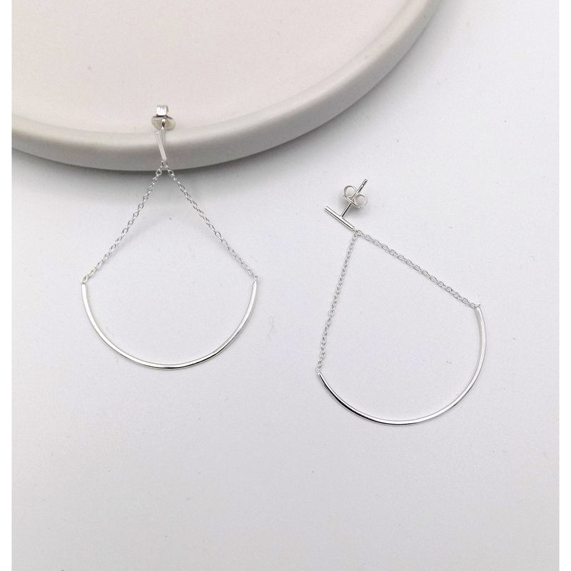 925 Sterling Silver Swing Swing Earring(102-4540) - STARCURLS.COM