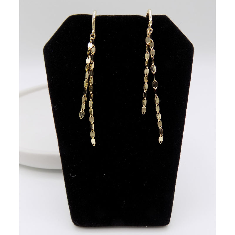 925 Sterling Silver Long Chain Drop Earring(102-4573) - STARCURLS.COM