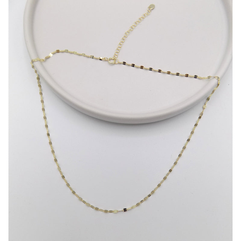 925 Sterling Silver Sparkle Chain Necklace (105-0711) - STARCURLS.COM