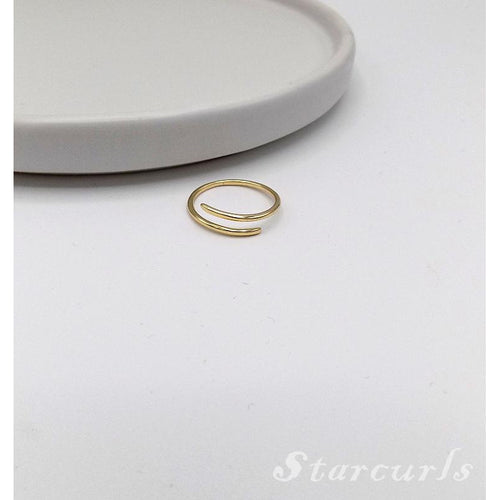925 Sterling Silver Parallel Open Ring (11-3888) - STARCURLS.COM