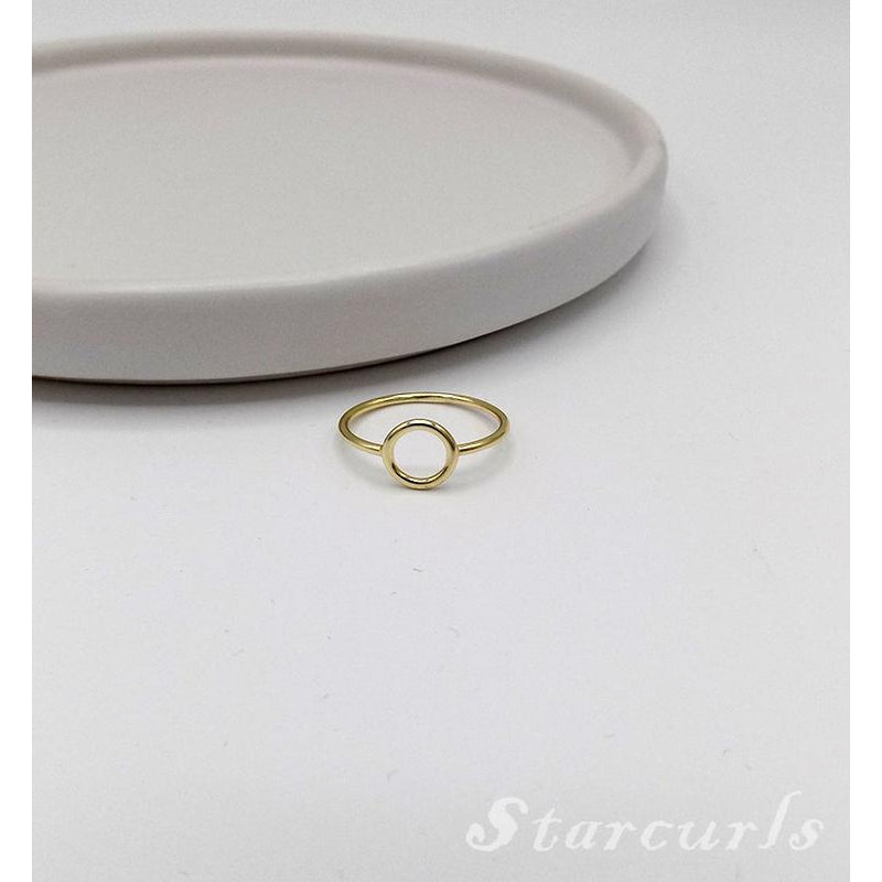 925 Sterling Silver Circle Ring (11-3927) - STARCURLS.COM