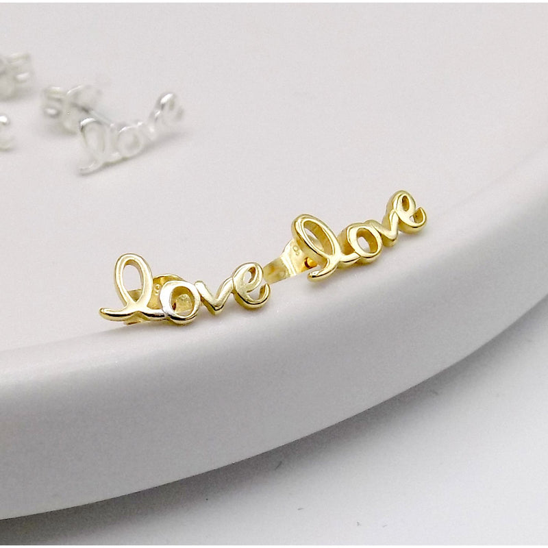 925 Sterling Silver LOVE Earring(12-5977) - STARCURLS.COM