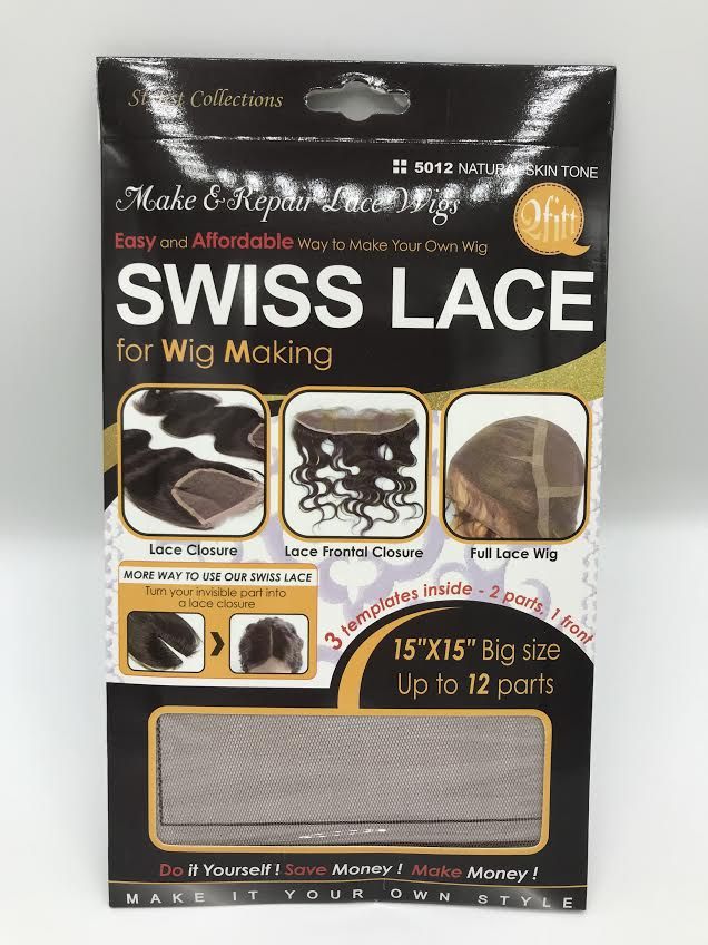QFIT SWISS LACE FOR  MAKE OR REPAIR LACE WIG #5012 NATURAL SKIN TONE (MM5012) - STARCURLS.COM