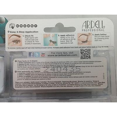 4-Pairs ARDELL Natural #118 False Fake New Lashes Eyelashes Black Invisiband - STARCURLS.COM