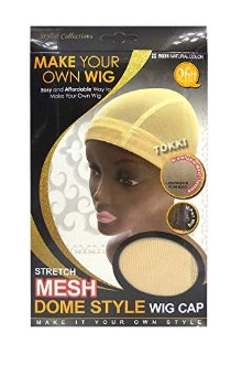 QFIT MAKE YOUR OWN WIG  STRETCH MESH DOME WIG CAP  #5031  NATURAL COLOR - STARCURLS.COM