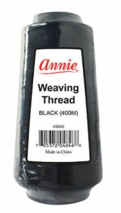 ANNIE WEAVING THREAD BLACK 400M (#4846) - STARCURLS.COM