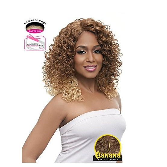 LACE FRONT SHORT CURLY WIG , BANANA SHAPE PART (LBP09) - STARCURLS.COM