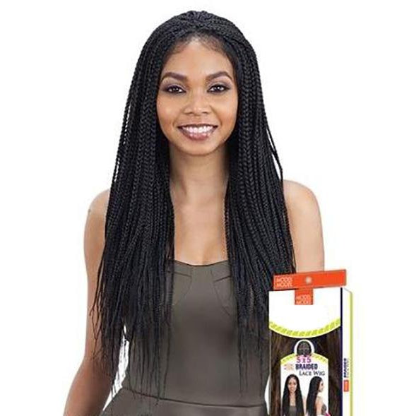 MODEL MODEL 5X5 BOX BRAID LACE WIG - STARCURLS.COM