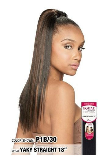 "EQUAL DRAWSTRING PONY TAIL, YAKY STRAIGHT 18"" (FQP18) - STARCURLS.COM"