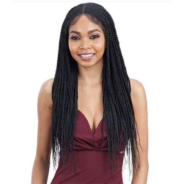 MODEL MODEL 5X5 CORNROW BRAID LACE WIG  - CORNROW BRAIDS - STARCURLS.COM