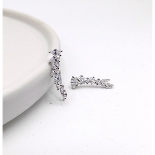 925 Sterling Silver Marquise Stone Wing Earring(52-3653) - STARCURLS.COM