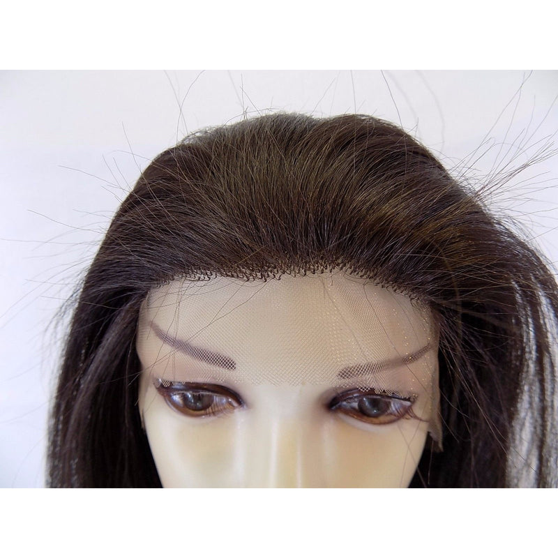 "LACE FRONT WIG , ""100% Human Hair Quality"" human hair mix fiber Long Straight (LC601) - STARCURLS.COM"