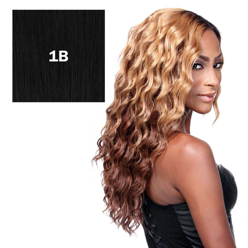 "100% HUMAN HAIR BLEND WEAVE (12""/14""/16""/18"" + hand tied closure), (SOLO LOOSE DEEP) - STARCURLS.COM"