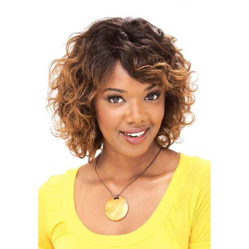HUMAN HAIR FULL WIG, SHORT WAVY CURL (MOON) - STARCURLS.COM
