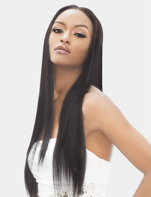 7PC CLIP-ON BRAZILIAN HUMAN HAIR EXTENSION STRAIGHT  (7BS) - STARCURLS.COM
