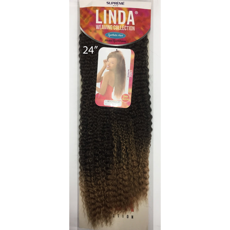 "SYNTHETIC HAIR WEAVE -  BEYONCE 24"" ( SUPREME LINDA COLLECTION ) - STARCURLS.COM"
