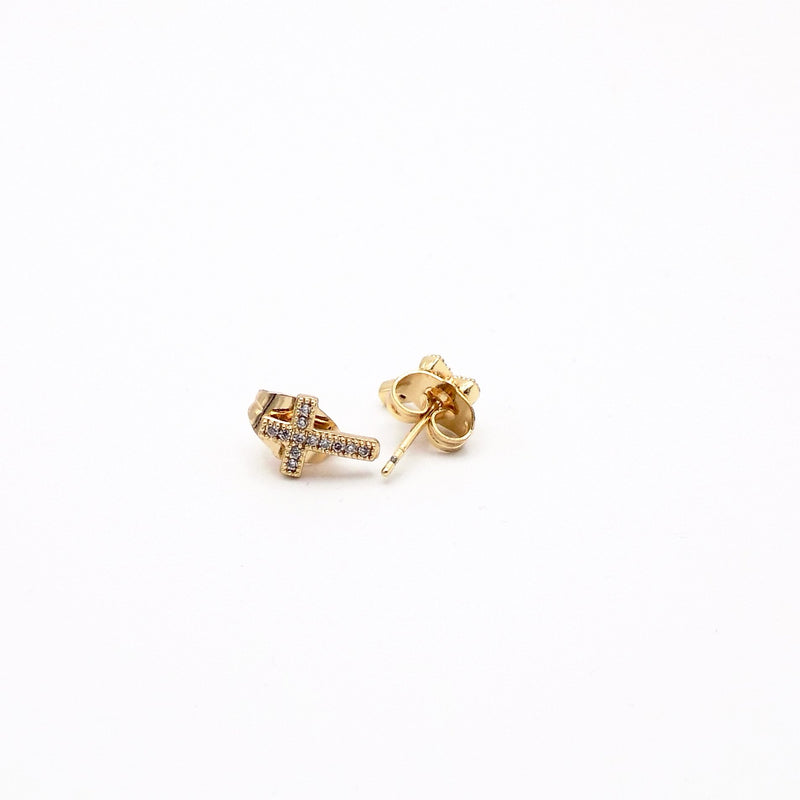 Stainless Steel Cross Earring - STARCURLS.COM
