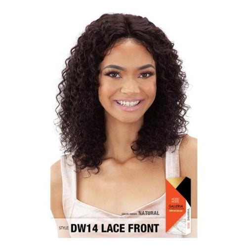 "100% VIRGIN HUMAN HAIR LACE FRONT WIG, DEEP WAVE 14 INCH"" - GALLERIA  DW14 - STARCURLS.COM"