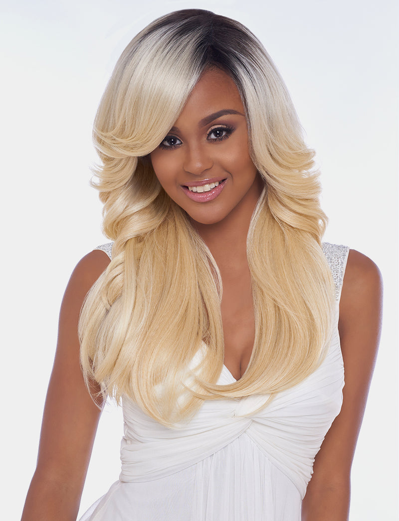 4x4 MULTI PARTING LACE WIG, SWISS SILK BASE LACE WAVY STRAIGHT  (FLS03)* - STARCURLS.COM