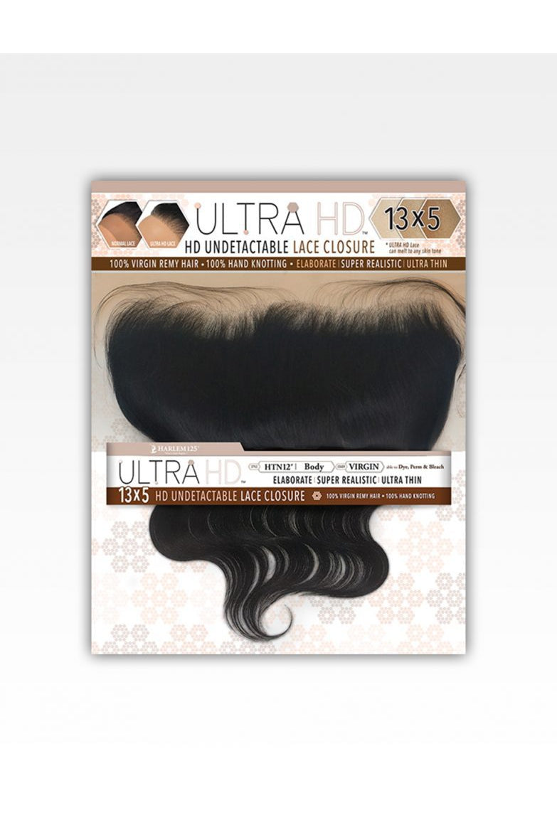 HARLEM 125 , ULTRA HD UNDETECTABLE CLOSURE 13X5 BODY WAVY FRONTAL (HTN) - STARCURLS.COM