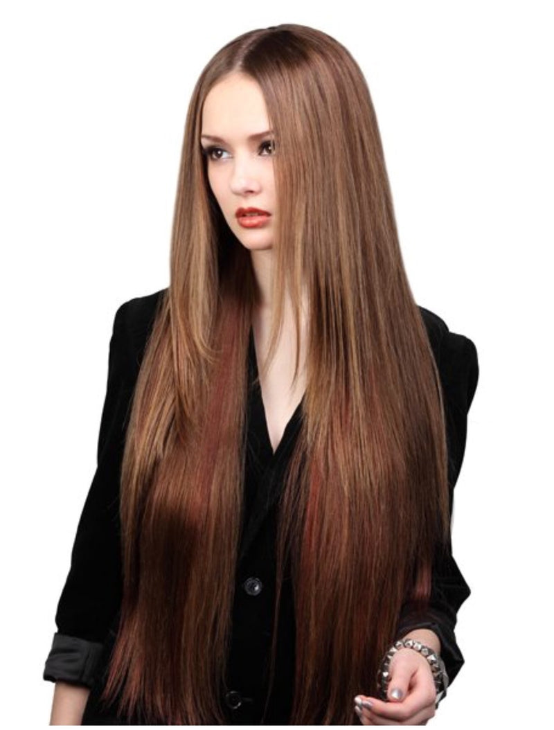 SUPREME HUMAN HAIR 8 PC CLIP ON EXTENSION - EURO STRAIGHT 18″ - STARCURLS.COM