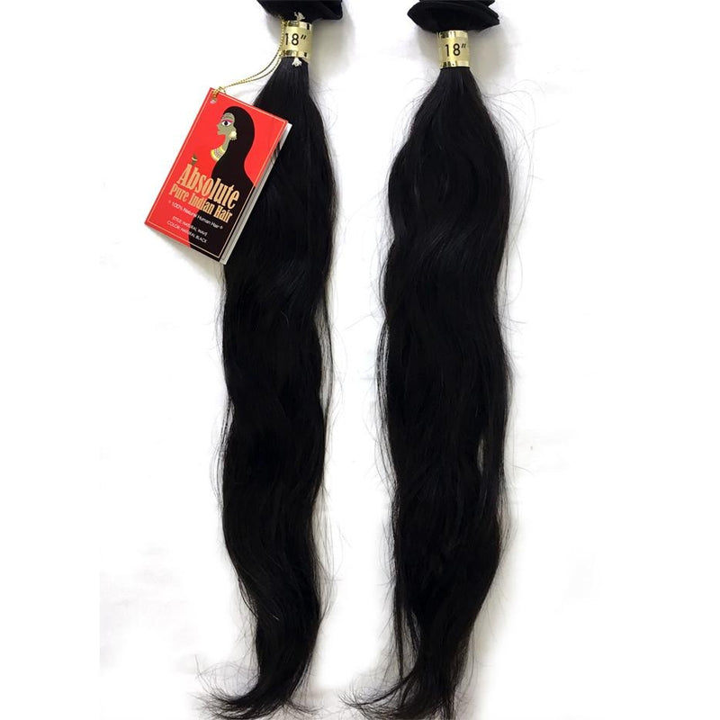 "ABSOLUTE PURE 100% INDIAN HAIR WEAVE 18"" - 2 BUNDLES - NATURAL WAVE  by SUPREME - STARCURLS.COM"