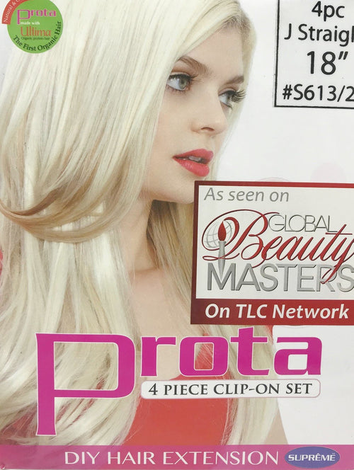 "18"" Prota (Natural Collagen Protein Hair) 4pc Clip on DIY 4PC J-STRAIGHT - STARCURLS.COM"