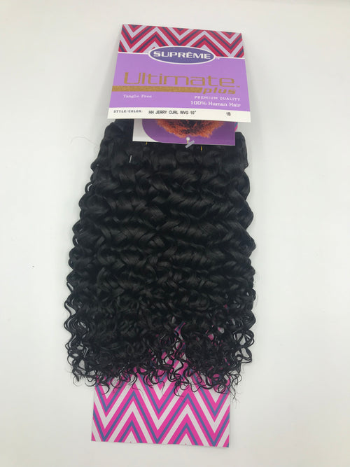 ULTIMATE PLUS 100% Human Hair Jerry Curl Weave  8"