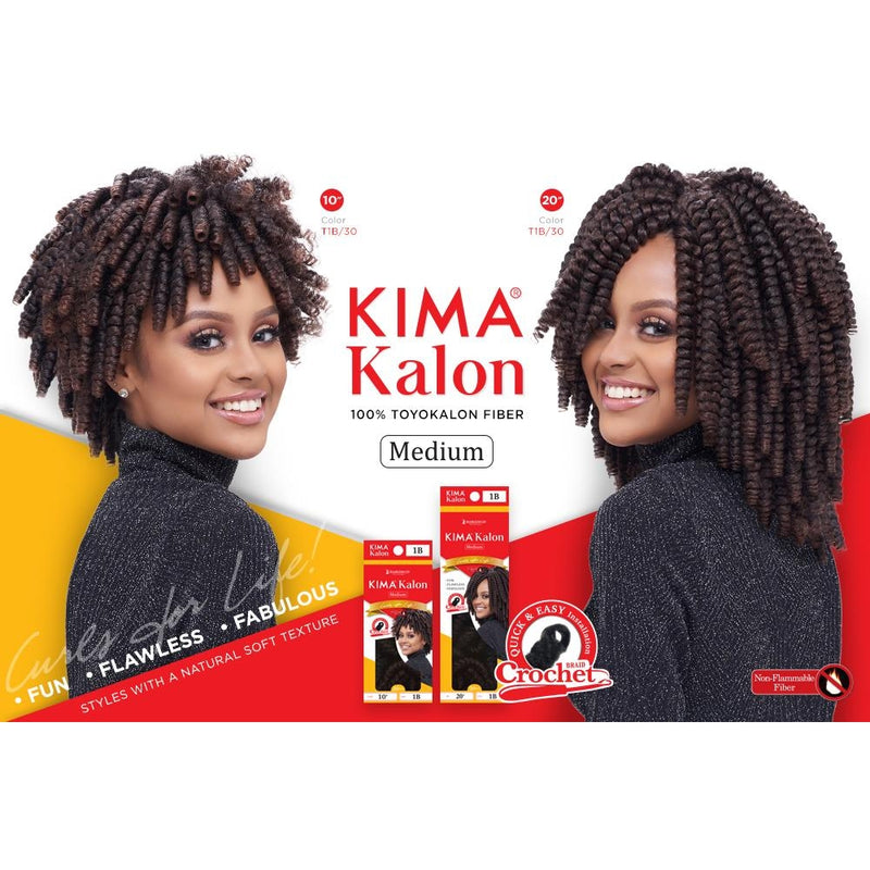 "KIMA KALON CROCHET BRAID MEDIUM 10"" 20PCS - 1B - STARCURLS.COM"