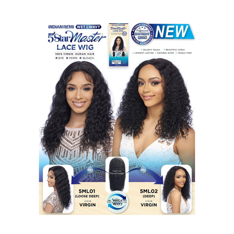 100% VIRGIN HUMAN HAIR 13X4 LACE WIG -LOOSE DEEP  (5ML01) - STARCURLS.COM