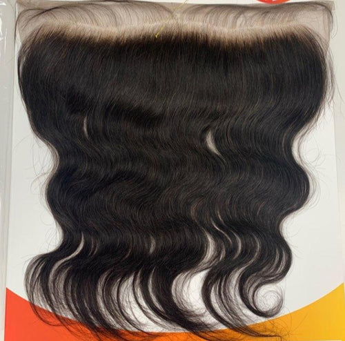 "HAUTE 100% VIRGIN HUMAN HAIR 13""X 4"" BLEACHED KNOT BODY WAVE FRONTAL CLOSURE - STARCURLS.COM"