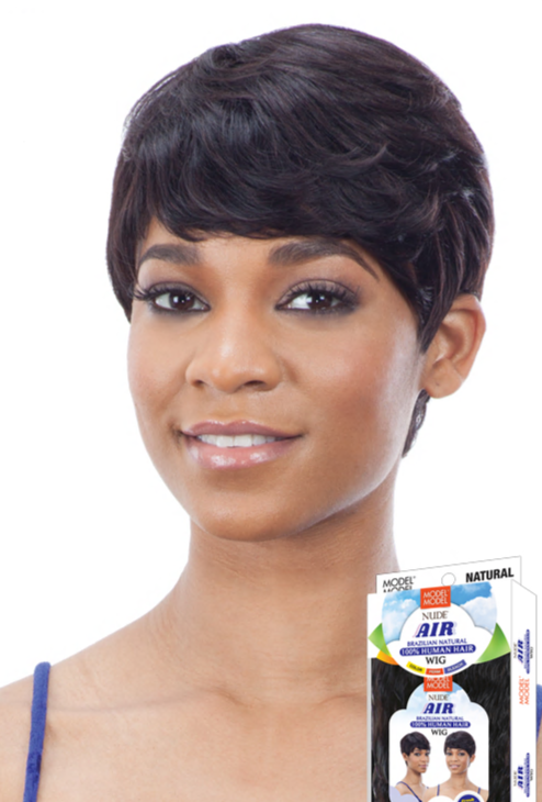 MODEL MODEL , NUDE AIR 100% HUMAN HAIR WIG  - (SUGAR) - STARCURLS.COM