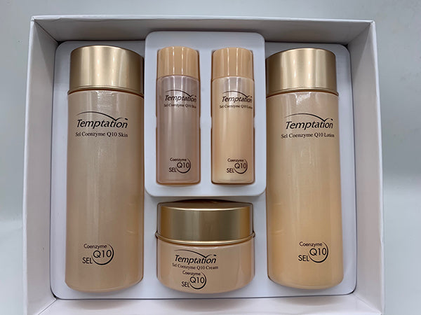 K-beauty, Temptation Sel Coenzyme Q10 Skincare 5PC Gift Set -Skin ,Lotion ,Cream - STARCURLS.COM