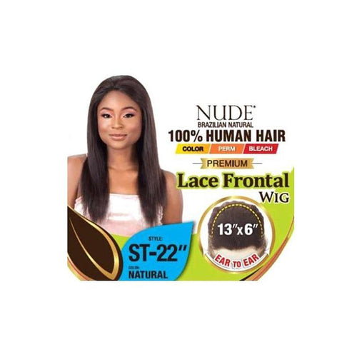 "100% HUMAN HAIR, NUDE PREMIUM 13X6 LACE FRONT WIG STRAIGHT 22 INCH"" - (LAR55) - STARCURLS.COM"