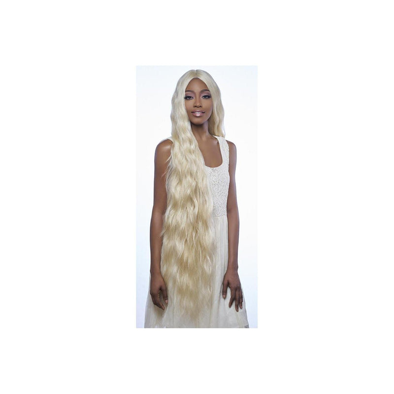 "Swiss Lace Front Wig - 6"" Deep Center Part XLong Wavy Style 42"" - LSD91 - STARCURLS.COM"