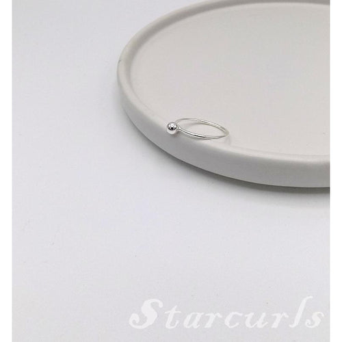 925 Sterling Silver Tiny Ball Ring (R-1801) - STARCURLS.COM